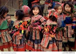 Dzieci zgrupy etniczej Hmong (Wietnam)