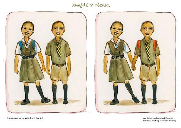 Uczniowie w mundurkach (Indie)