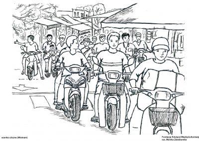 Ulica wHanoi (Wietnam)