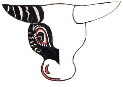 Maska zTańca Byka (Gwatemala)