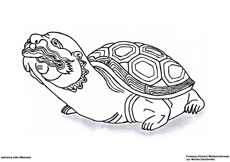 Kamienny żółw (Wietnam)