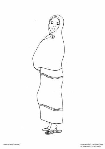 Kobieta wkanga (Zanzibar)
