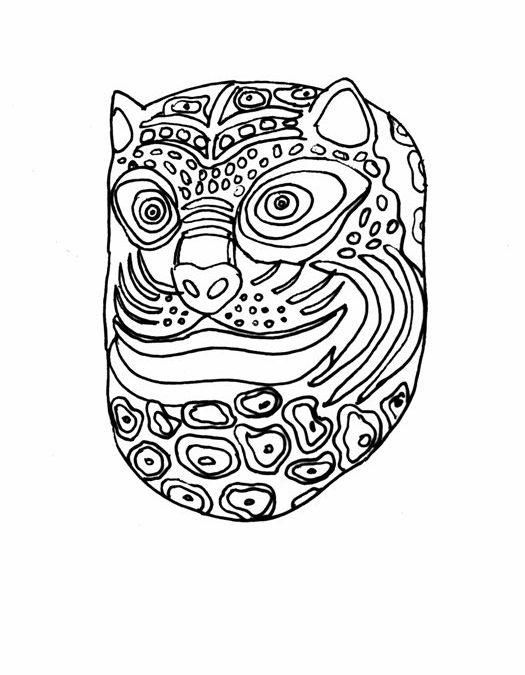 Maska zTańca Tygrysa (Meksyk)