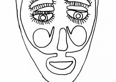 Maska zTańca Maurów iChrześcijan (Meksyk)