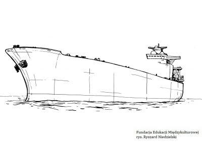 Tankowiec – dorysuj